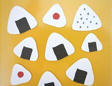 Japanese onigiri stickers! Kawaii rice ball bento snacks Cute Japan food cooking