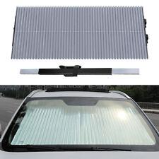 """25"""" Retractable Car Windshield Sun Visor Window Shade Curtain Foldable Reflectiv"""