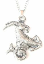 Capricorn Pendant Handcrafted in Solid Pewter In The UK + Free GiftBox PN51