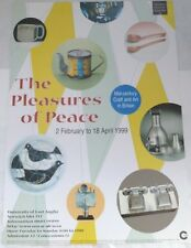 The Pleasures of Peace - mid century craft  1999 ART EXHIBITION POSTER
