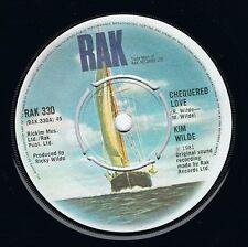 "KIM WILDE Chequered Love 7"" Single Vinyl Record 45rpm RAK 1981 EX"