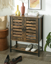Industrial Storage Cupboard Vintage Retro Side Cabinet Rustic Door Console Table
