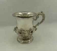 Superb Antique William IV Sterling silver mug, 140 grams, London 1835, Barnards