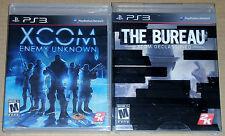 PS3 Game Lot - XCOM Enemy Unknown (New) The Bureau XCOM Declassified (New)