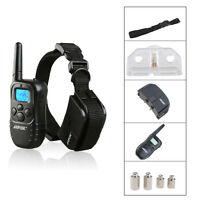 300 Yards Pet Dog Training Collar LCD 100LV Level Electric Shock&Vibra Remote