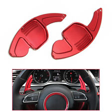Red Steering Wheel Paddle Shifter Extension For Audi A3 A4 A5 A6 A7 Q7 TT TTS