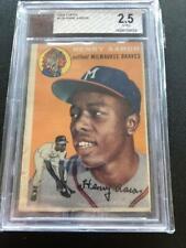 Hank Henry Aaron 1954 Topps #128 Rookie BVG 2.5 G-VG Milwaukee Braves GCJ
