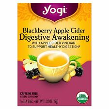 Yogi Tea, Digestive Awakening, Blackberry Apple Cider, Caffeine Free, 16 Tea Bag