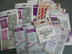 LARGE LOT OF 12 CRAFTER'S COMPANION ITEMS - DIES/STAMPS/PAPER/EMBOSSING FOLDERS