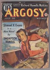 Argosy July 30 1938 Pulp Fiction Mag Dale Clark Davis Dresser Brett Halliday