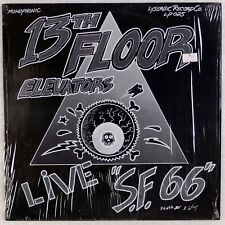 13TH FLOOR ELEVATORS: Live S.F. 66 Lysergic US Psych Shrink LP NM- Vinyl '80