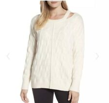NWT Vince Camuto Keyhole Neck Cable Knit Sweater Size Medium