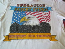 VINTAGE OPERATION DESERT STORM TEE SHIRT LARGE EAGLE SUPPORT OUR TROOPS CLEAN