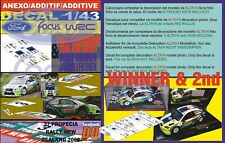 ANEXO DECAL 1/43 FORD FOCUS GRONHOLM & HIRVONEN NEW ZEALAND 2006 1st & 2nd (01)