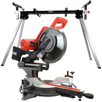 Excel 305mm Mitre Saw 240V Sliding Double Bevel 2000W with Leg Stand