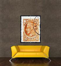 POSTER PRINT GIANT POSTAGE STAMP GREECE ANCIENT CRETE BUST 20 DRACHMA PAMP161