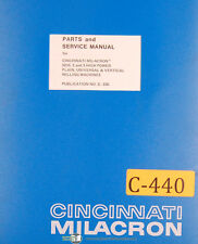 Cincinnati Milacron No. 2 and 3, Milling Machine, Service and Parts Manual 1929