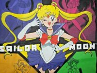 Vtg 1990s 1998 JAPAN SAILOR MOON shirt sailor mars mercury venus manga anime art