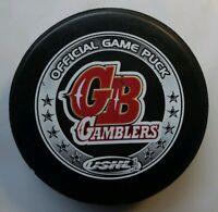 GREEN BAY GAMBLERS HOCKEY OFFICIAL GAME PUCK USHL TIER 1 OGP - CANADA RARE