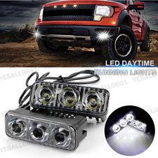 2x 1200LM 3 LED Car Auto Fog Drive Light DRL Daytime Running Lamp Xenon White