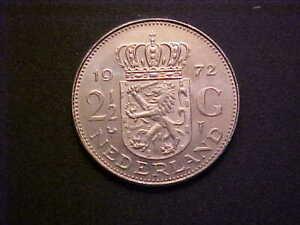 1972 Netherlands 2-1/2 Gulden KM# 191-  Nice Choice BU Collector Coin! -d3813ucx