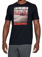 Under Armour Mens T-Shirt Black Large L Urban Basketball Hoop Graphic Tee 091
