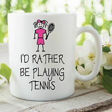 GADGET DIVERTENTE TAZZE I'd rather be playing tennis PRESENTE DEL REGALO