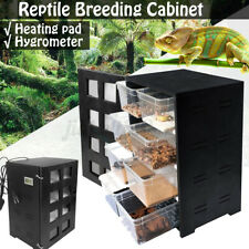 Reptile Breeding Tank Feeding Box For Insect Turtle Cage Pet Multifunctional
