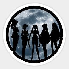 Sailor Moon Moonlight Team Vinyl Wall Bumper Bottle Phone Decal Sticker Quote