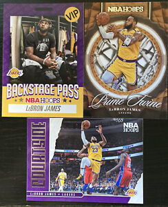 20-21 Panini NBA Hoops LeBron James Inserts X 3