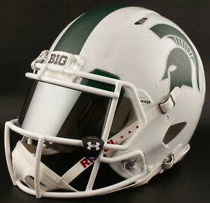 *CUSTOM* MICHIGAN STATE SPARTANS Riddell SPEED Full Size Replica Football Helmet