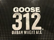 "*NEW* GOOSE ISLAND - 312 URBAN WHEAT ALE - SERVER BAR MAT (12"" x 17"") RAIL MAT"