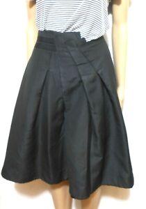 "Veronika Maine black pleat skirt, asymmetric waist, sz. 14, NWOT ""BLOCK BUSTER"""