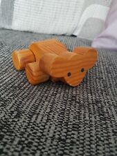 vintage small wooden mouse toy