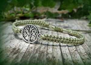 Hemp Tree of Life Bracelet - Handmade in USA - Hippie Surfer Nature Lover Gift