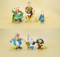 "lot of 6 Cartoon The Adventures of Asterix Astérix PVC Figures 2""-3"""