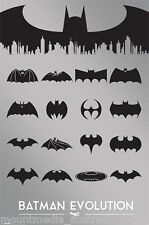 BATMAN LOGO EVOLUTION MOVIE POSTER (61x91cm) SILVER NEW LICENSED
