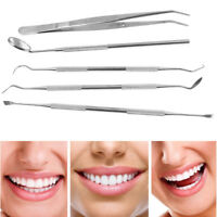 5PCS Stainless Steel Dental Oral Hygiene Kit Tools Deep Cleaning Teeth Care Set