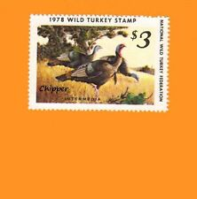 1978 NWTF WILD TURKEY STAMP CALL FREE SHIPPING
