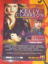 KELLY CLARKSON -  2010  AUSTRALIAN  TOUR  -  PROMO TOUR POSTER