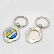 "KEY HOLDER KEY CHAIN **AUTHENTIC AANRAKU** FOR 1"" INCH GLASS CIRCLE"