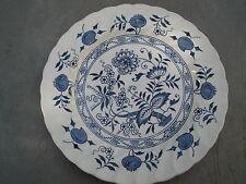 Old Vienna Ironstone Wood & Sons Burslem England Dinner Plate Vintage Blue Onion