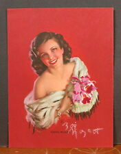 Rare Hand Signed Zoe Mozert Glamour Orchid Corsage Calendar Top Going Places
