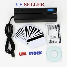 Msr605x Magnetic Stripe Card Reader Writer Encoder Credit Msr206 Msr605 New Usa