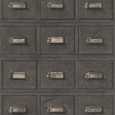 Rasch bois armoire tiroirs Motif Papier peint vintage réaliste Faux Effet ROLL