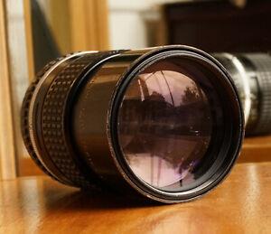Nikon Series E 135mm f2.8 w/ Integrated Hood & Filter