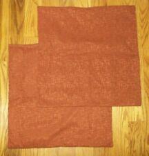 "Set of 2 Kevin Textile Faux Linen Square Throw Pillow Cover 20""x20"" Burnt Brick"