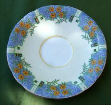 PRETTY AYNSLEY SAUCER - BLUE/CREAM/ORANGE