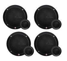 "4) ROCKFORD FOSGATE R165-S 6.5"" 80 Watt 2-Way Car Component System Speakers"