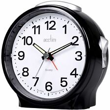 Acctim 15573 Elsie Non-Ticking Alarm Clock with Sweep Seconds Hand